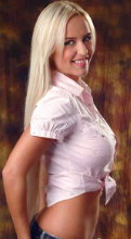 Olga is a tall blonde Ukrainian with a big smile